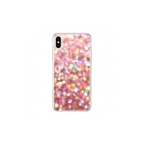 coque iphone xs max paillette or