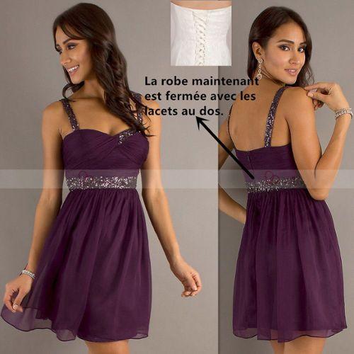 f7a0100d0c6 robe cocktail violet pas cher ou d occasion sur Rakuten