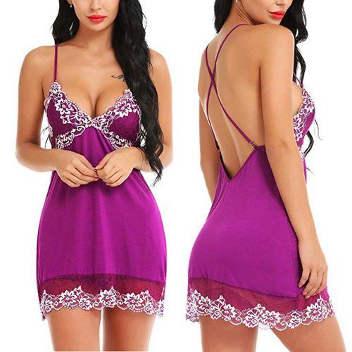 FEOYA V/êtements de Nuit en Satin pour Femme 2 pi/èces Robe de Nuit en Soie Longue Camisole Pyjama Oblique col en V Robe de Chambre Femme Kimono pour mari/ée 4 Couleurs
