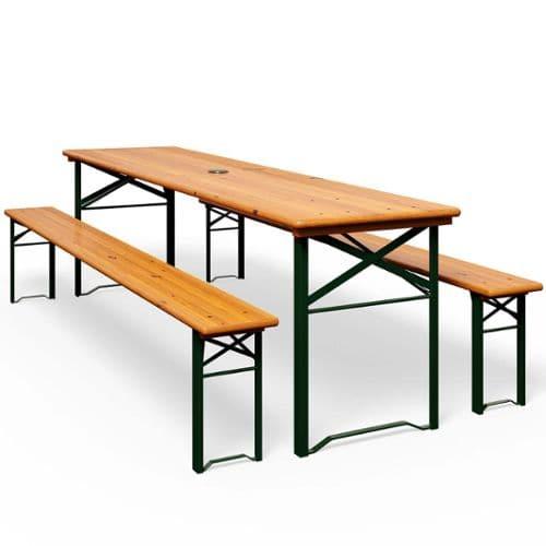 table de jardin en bois avec banc pas cher ou d\'occasion sur Rakuten