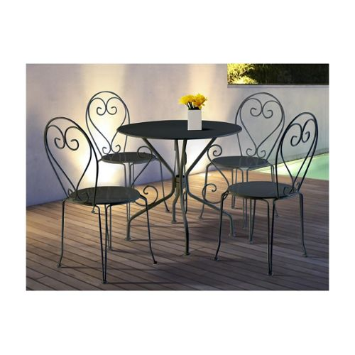 Table Et Chaise Fer Forge