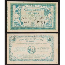 1 franc 1915 marseille billet de n cessit chambre de commerce france. Black Bedroom Furniture Sets. Home Design Ideas