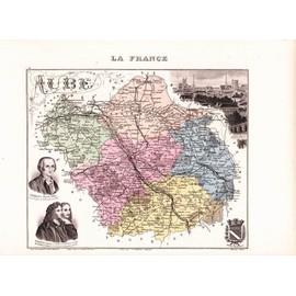 ** 10 - Aube - Atlas Migeon - Gravure - 1880 **