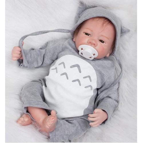 18 pouce poup es npk silicone reborn baby dolls main r aliste r aliste r el tactile vinyle. Black Bedroom Furniture Sets. Home Design Ideas
