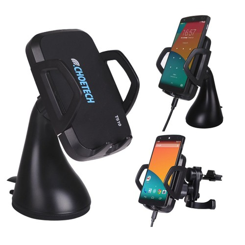 3 bobines support t l phone voiture chargeur sans fil choetech qi chargeur induction pour. Black Bedroom Furniture Sets. Home Design Ideas