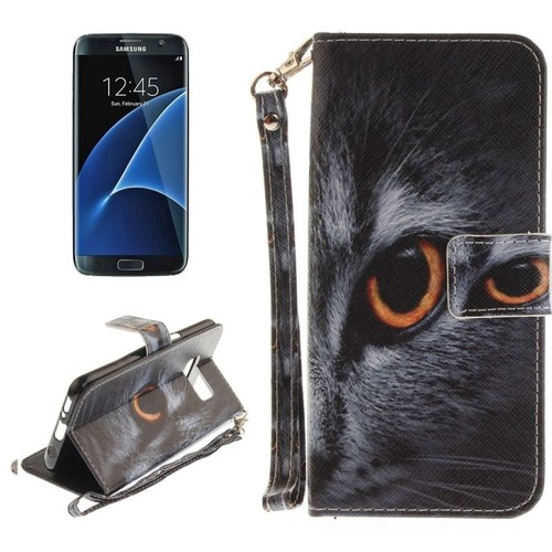 Owl Pattern Horizontal Flip PC + PU Leather Case with Holder & Card Slots & Wallet. Source · -52-for-galaxy-s8-g955-half-face-cat