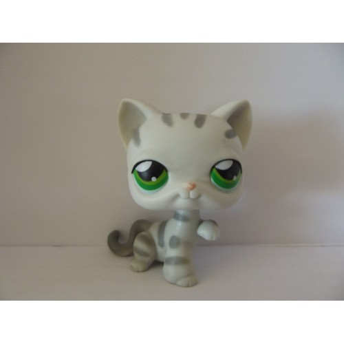 Littlest petshop lps pet shop chat cat tigr ray gris grey - Petshop tigre ...