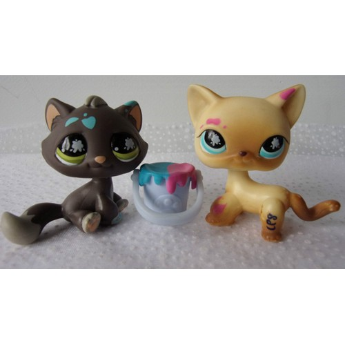 littlest petshop lps pet shop duo chat lot 2 chats seau. Black Bedroom Furniture Sets. Home Design Ideas