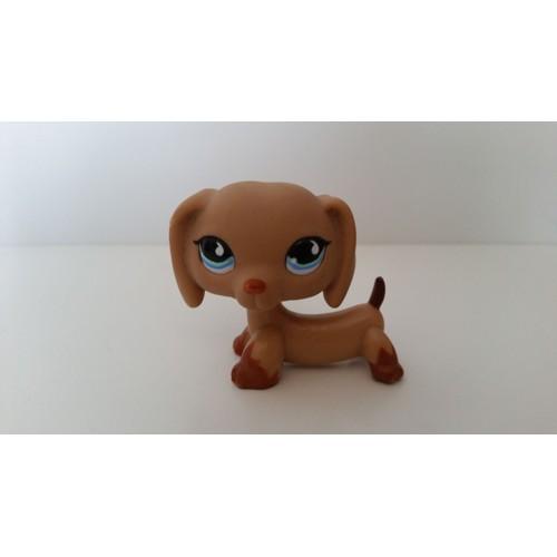 Littlest petshop pet shop collection chien teckel marron - Chien pet shop ...