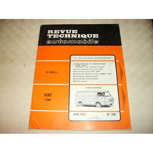 fiat 238 de revue technique automobile achat vente. Black Bedroom Furniture Sets. Home Design Ideas