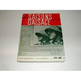 Saisons D'alsace N� 39/40 - Guerre Guerre 39/45 N� 39/40 de saisons d'alsace