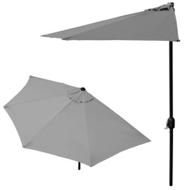 casa pro demi parasol 300cm gris parasol manivelle parasol de march parasol de. Black Bedroom Furniture Sets. Home Design Ideas