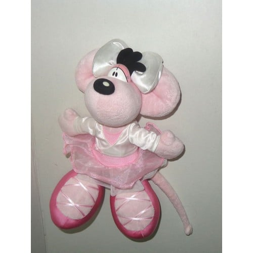 diddl diddlina ou petit rat danseuse en tutu rose et blanc peluche doudou despeche 26cm. Black Bedroom Furniture Sets. Home Design Ideas