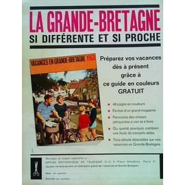 Pub publicit ancienne mars 1963 de l 39 office - Office du tourisme de grande bretagne ...