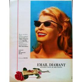 pub publicite ancienne mars 1963 pour le dentifrice rouge email diamant de john walton. Black Bedroom Furniture Sets. Home Design Ideas