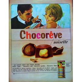 pub publicite ancienne mars 1963 pour les chocolats fourres chocor ve chocolat ibled. Black Bedroom Furniture Sets. Home Design Ideas