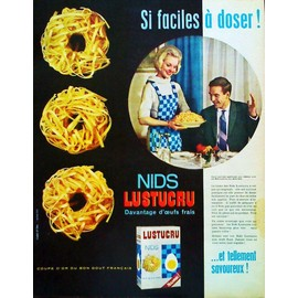 pub publicite ancienne mars 1963 pour les p tes alimentaires lustucru photo jasz. Black Bedroom Furniture Sets. Home Design Ideas