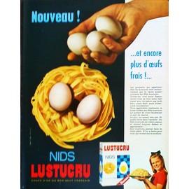 pub publicit ancienne mars 1963 pour les p tes alimentaires lustucru. Black Bedroom Furniture Sets. Home Design Ideas