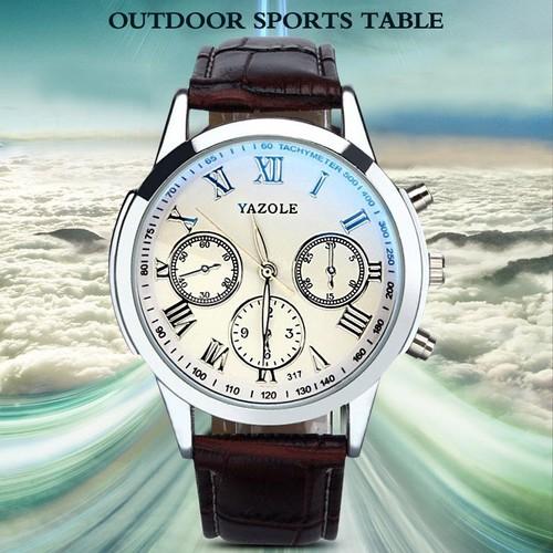 En Romaines Hombre Yazole Horloge Hommes Montre Masculine Relojes Occasion 100pcs Quartz Relogio Masculino Homme Montres Cuir EW9D2IH