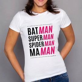 t shirt f te des m res batman superman spiderman maman. Black Bedroom Furniture Sets. Home Design Ideas