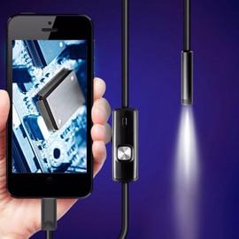fb65b427cf 1.5m 7mm lentille Rigide Câble USB Inspection Mini Caméra Tube Serpent IP67  Étanche Endoscope avec ...