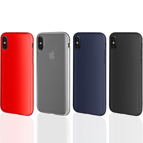 coque iphone x gel noir