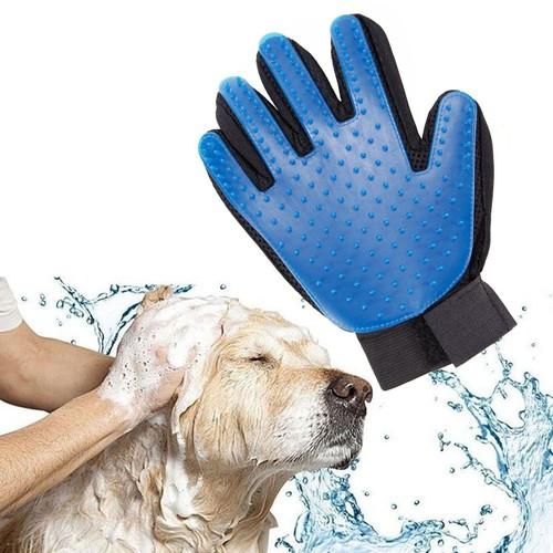1 x gant nettoyeur poil pelage ramasse brosse massage chien chiot chien animalerie bleu pour. Black Bedroom Furniture Sets. Home Design Ideas