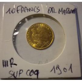 10 Francs Or Marianne Iii R�publique 1901 Sup Coq