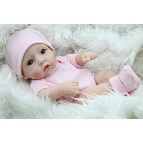 Pouces Couché Et Assis Reborn Bébé Poupée Pleine Silicone Baby Alive - Portant vetement bebe