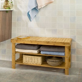 100 bambou naturel tag re chaussures en bambou rangement entr e salle de bain si ge pour. Black Bedroom Furniture Sets. Home Design Ideas
