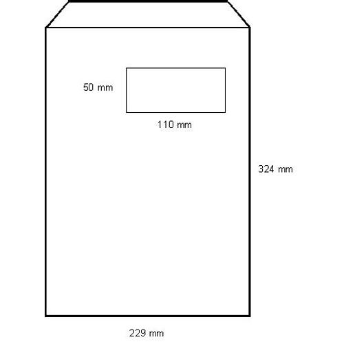 100 pochettes enveloppes papier blanches c4 229x324 mm for Enveloppe c4 avec fenetre