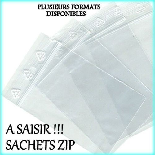 100 sachet plastique 60x80 zip bag transparent bag pochon pochette