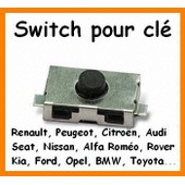 Switch Bouton Cl� T�l�commande Plip Peugeot 106 206 306 307 406 Citroen C3 C5