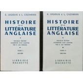 Histoire De La Litt�rature Anglaise En 2 Volumes de E. Legouis & L. Cazamian