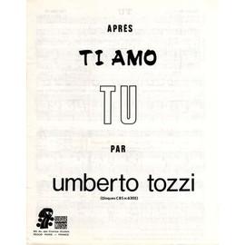 Tu - Umberto Tozzi - Partition - Editions Sugar Music