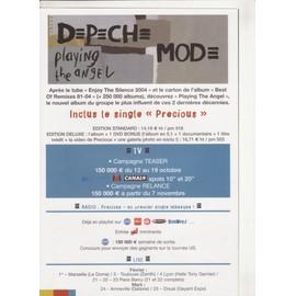 DEPECHE MODE playing the angel Bon Précommande Poster 40 x 58 cm