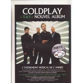 COLDPLAY X&Y Bon Précommande Poster 40x 56 cm