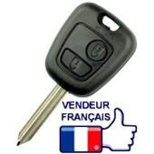 Coque Cl� 2 Boutons + Lame Pour T�l�commande Plip Citro�n C Berlingo, Saxo, Xsara, Picasso, Peugeot Partner Etc...