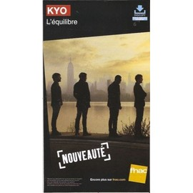 rare PLV cartonnée rigide 14x25cm KYO l'équilibre 2014 / magasins FNAC