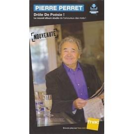 rare PLV cartonnée rigide 14x25cm PIERRE PERRET drôle de poésie ! 2014 / FNAC imprimée recto verso
