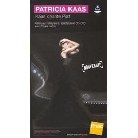 rare PLV cartonnée rigide 14x25cm PATRICIA KAAS chante PIAF / magasins FNAC