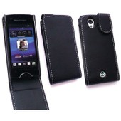 Kit Me Out Fr - �tui � Rabat Cuir Synth�tique Pour Sony Ericsson Xperia Ray - Noir