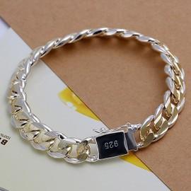 Bracelet Homme Argent Or Gourmette 925