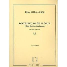 distribution des fleurs (pour flûte et guitare) - oeuvre posthume