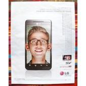 Publicit� Ancienne (Ao�t 2011) Pour Le T�l�phone Portable Lg Optimus 3d