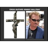 Johnny Hallyday Croix Guitare + Collier Collection