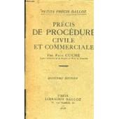 Precis De Procedure Civile Et Commerciale de CUCHE PAUL