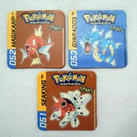 Lot De 3 Magnets Pokemon Advanced Staks - 051 Seaking Poissoroy 052 Magikarp Magicarpe 053 Gyarados L�viator