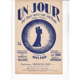UN JOUR - The Night when love was born - Fox Trot