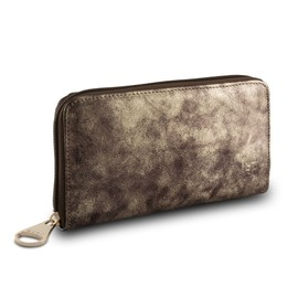 Zippy Model Woman's Leather Wallet With Zip Around By Dudu